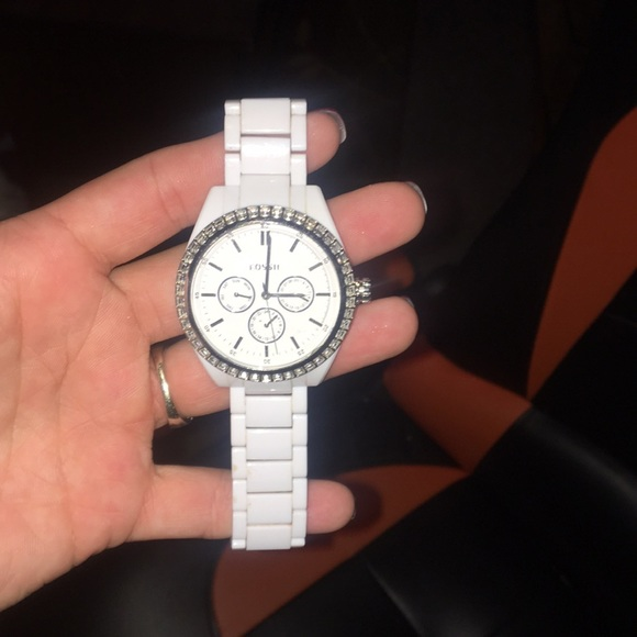 Fossil Accessories - White Fossil Watch